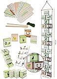 Weihnachtskalender als Adventskette - 24 Boxen / Schachteln zum Befüllen + Zahlenaufsticker - selber Basteln - für Erwachsene / Kinder / Mädchen Jungen - Adventskalender Weihnachten - SelbstBefüllen - Aus Papier Kleben / machen gestalten - Adventsboxen / Weihnachtsdosen