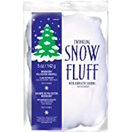 Anagram White Twinkling Snow Fluff Winter Decoration