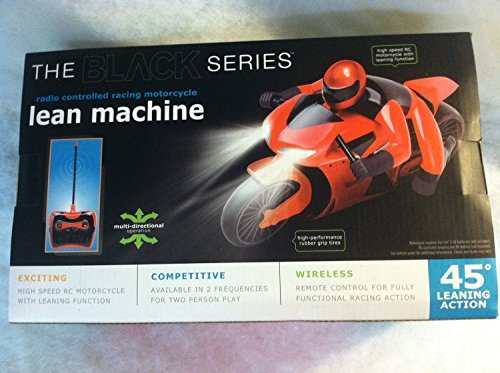 THE BLACK SERIES LEAN MACHINE RADIO CONTROLLED MOTORCYCLE (Radio Controlled Motorcycle compare prices)