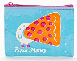 Blue Q Coin Purse Pizza Money