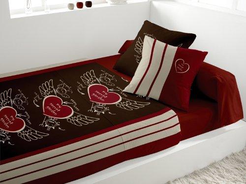java 252275 parure de lit 5 pi ces secret chocolat 240 x 290 cm suniaraha blogs. Black Bedroom Furniture Sets. Home Design Ideas