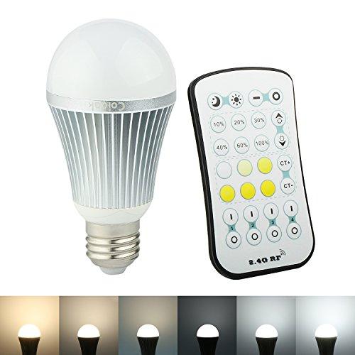 Coidak CO810 Dimmable and 2700K Warm White-6500K Cool White Color Temperature Adjustable LED Bulb 9W E27 2.4G Wireless Remote Control (Temperature Bulb compare prices)
