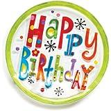 DEMDACO Silvestri Glass Fusion Happy Birthday Round Plate