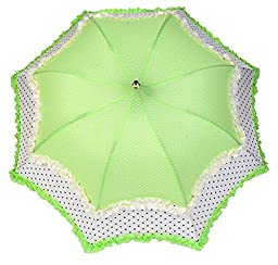 Green Chinese Famous Candy Color Ruffle Style Manual Three Fold Sun Uv Protection Female Lace Pagoda Umbrellas