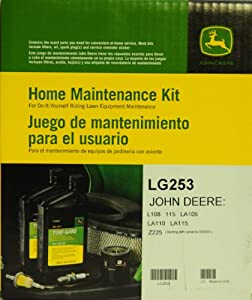 John Deere Genuine LG253 Home Maintenance Kit for JOHN DEERE: L108 115 LA105 LA110 LA115 Z225 (Starting with serial no. 060001) from John Deere