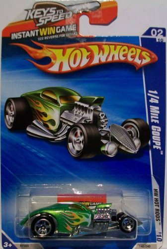 2010 Hot Wheels Green 1/4 Mile Coupe 140/240 1:64 Scale - 1
