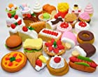 10 Assorted FOOD CAKE DESSERT Japanese Erasers IWAKO