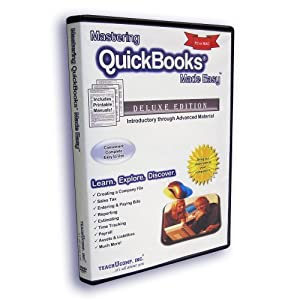 Mastering QuickBooks Made Easy v. 2013 Video Training Tutorial Course DVD-ROM