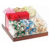 12.25W x 12.25D x 6.5H Luxe Multi Section Condiment Organizer White Metal/Stainless Steel Base 1 Ct