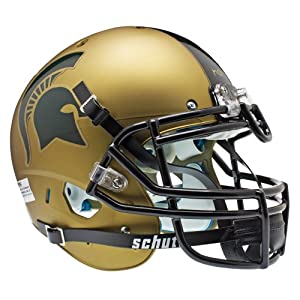 NCAA Michigan State Spartans Authentic XP Football Helmet, Gold by Schutt