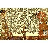 Gustav Klimt Tree of Life Gold Contrast Art Print Poster