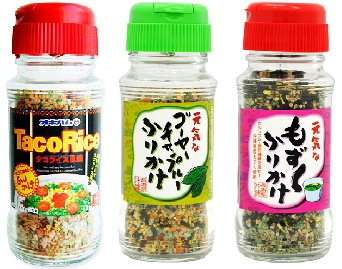 沖縄ふりかけ3種(タコライス・もずく・ゴーヤーチャンプルー)×1セット オキハム 沖縄の特産品や名物の味を手軽に味わえるふりかけセット お土産にも最適