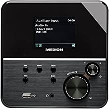 "MEDION LIFE P85040 (MD 86988) Wireless LAN Internet-Radio, 7,10 cm, 2,8"" Zoll, TFT Farbdisplay, DLNA, 2 x 5 W RMS, WLAN, LAN, schwarz"