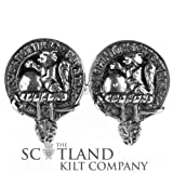Mens Scottish Made MacBean Clan Crested Boxed Silver Cufflinks by Art Pewter