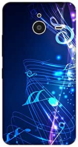 The Racoon Lean printed designer hard back mobile phone case cover for Microsoft Lumia 640 XL. (music fall)
