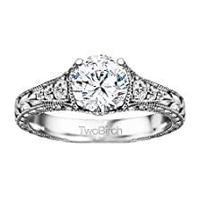 buy 2.38 Ct. Forever Brilliant Moissanite By Charles Colvard Vintage Engagement Ring Bridal Set, Including Matching Ring In Silver (2.38 Ct. Twt.)