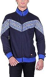 UCC Men's Fleece Regular Fit Sweatshirts (UCC7024NAVY-L)
