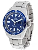 DeTomaso Men's Quartz Watch with Blue Dial Analogue Display and Silver Stainless Steel Bracelet DT1025-H