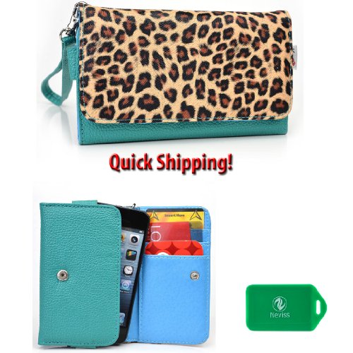 practical-hold-everything-wallet-phone-holder-in-animal-print-teal-and-leopard-universal-fit-huawei-