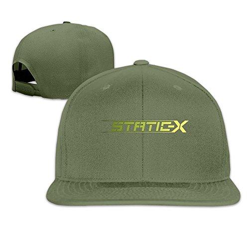 static-x-american-heavy-metal-band-flat-baseball-hat-sports-caps