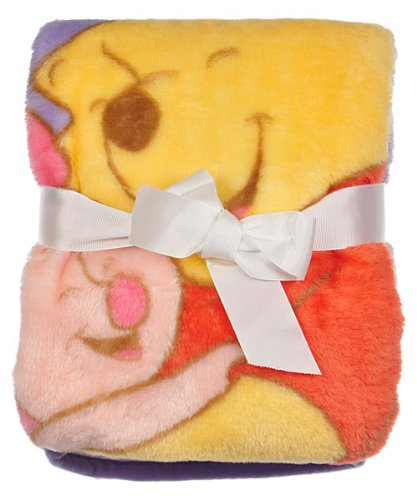 Disney Pooh & Piglet High Pile Blanket - 1