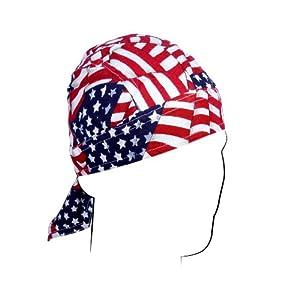 ZANheadgear Flydanna 100 Percentage Cotton Wavy American Flag Bandanna