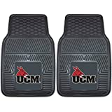 "NCAA University Of Central Missouri Heavy Duty Vinyl Car Mat (2 Piece), 18"" X 27""/Small, Black"