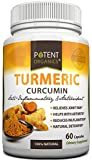 Potent Organics Turmeric Curcumin - 60 Veggie Capsules, 600mg in One Daily Capsule, All Natural Supplement