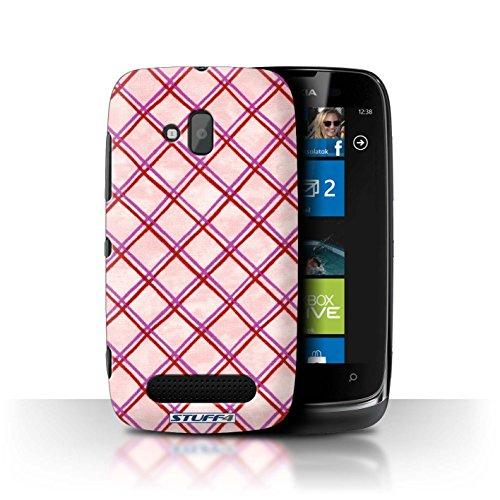Stuff4 Hülle / Hülle für Nokia Lumia 610 / Rosa/Rot Muster / Kreuz Muster Kollektion