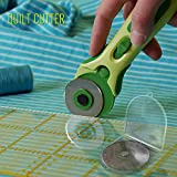 Rotary Cutter Blades 45mm 10-Pack - Fits Fiskars, Olfa, Truecut, & Martelli By Quilt Cutter