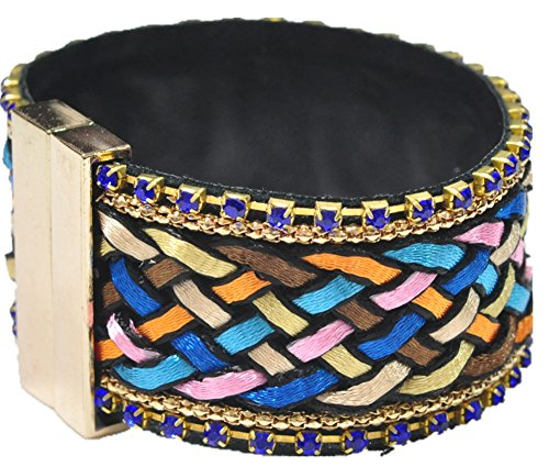 saysure-vintage-style-multilayer-magnetic-buckle-knitting-bracelets