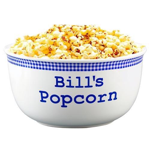 Personalized Blue Gingham Popcorn Bowl - 2 Quart