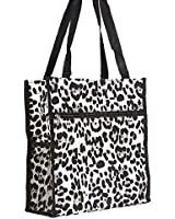 "13"" Print Square Lunch Tote Bag w/ Coin Purse"