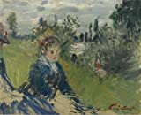 High Quality Polyster Canvas ,the High Definition Art Decorative Canvas Prints Of Oil Painting 'Claude Monet - At The Meadow, Vetheuil, 1881', 20x25 Inch / 51x63 Cm Is Best For Nursery Gallery Art And Home Artwork And Gifts