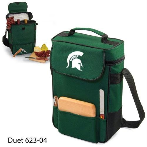 Ncaa Michigan State Spartans Duet Insulated Wine And Cheese Tote With Team Logo front-633403