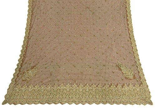 weinlese-dupatta-lange-stola-nette-brown-benutzte-wulstige-sarong-wrap-schleier-stola