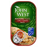 John West Mackerel Fillets in Spicy Tomato Sauce (125g)
