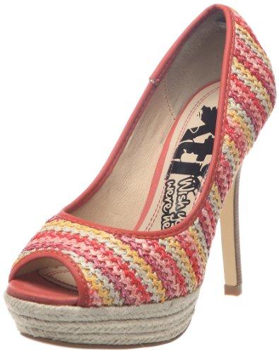 XTI 25264_Rojo - Zapatos de vestir para mujer, color rojo, talla 38