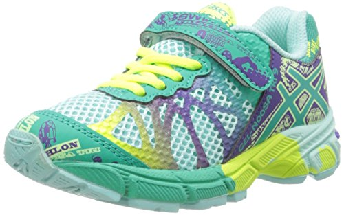 Asics Gel-Noosa TRI 9 PS Running Shoe (Toddler/Little Kid),Ice Blue/Emerald/Purple,1 M US Little Kid
