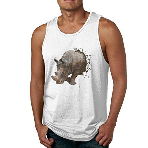 Rhino Pillowy Sleeveless Tee Shirt T-shirts T-shirt For Man's