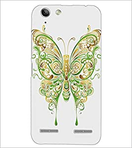 PrintDhaba Butterfly D-5360 Back Case Cover for LENOVO A6020a46 (Multi-Coloured)