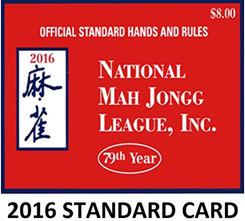 National Mah Jongg League Standard Size Scorecard 2016