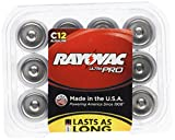 Rayovac Alkaline C Batteries, 12-Pack with Recloseable Lid (ALC-12)