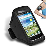 Huawei Ascend G300 Black Adjustable Armband Sport Gym Bike Cycle Running Jogging Sports Case Cover Holder Pouch BY SHUKAN