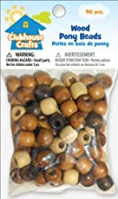 Advantus Clubhouse Crafts Wood Pony Beads 90Pkg