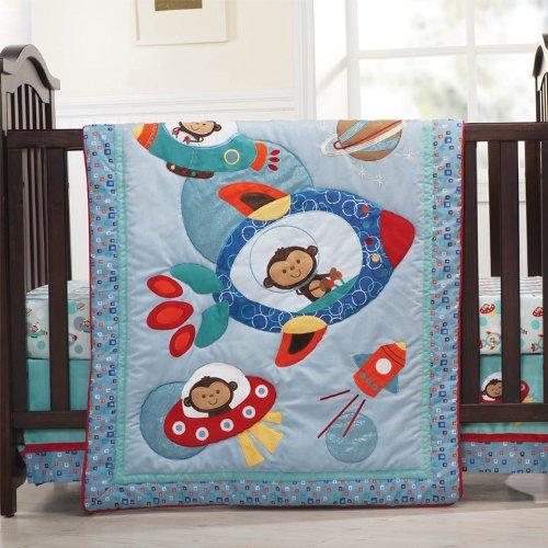 Great Astro Monkey piece Baby Crib Bedding Set