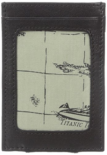 Tommy Bahama Men's Milled Leather and Basket Weave Money Clip Card Case, Black, One Size (Tommy Money Clip compare prices)