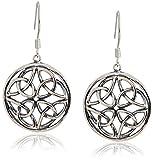 Celtic-Knot Round Drop Dangle Earrings
