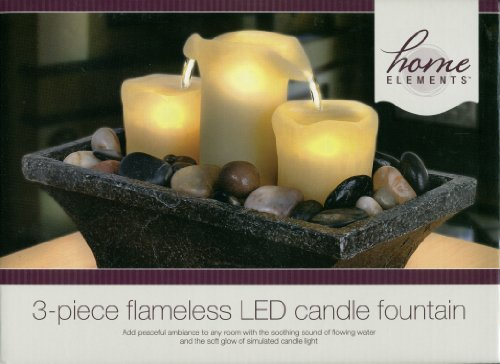 Home Elements - 3-Piece Flameless LED Candle Fountain : No. 499721