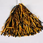 Black and Gold Pom Poms